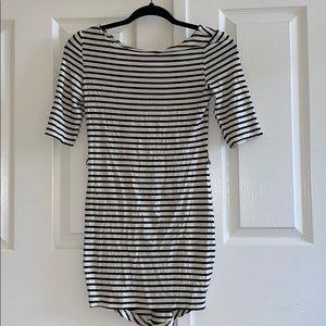 BNWT Striped Tight Mid Length Sleeve Dress